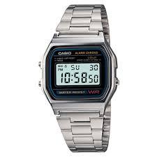 bracelet digital watches images Men 39 s casio digital bracelet watch silver a158w 1 target