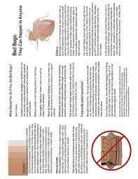 Bed Bugs Disease Bed Bug Information Pamphlet Ez Landlord Forms