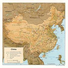 Physical Map Of East Asia by Chinese Geography Readings And Maps Asia For Educators