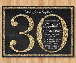 30th birthday invitation gold glitter birthday party by arthomer
