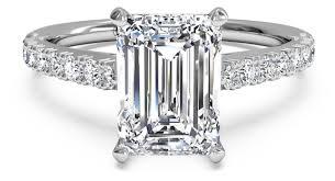 emerald cut engagement rings set emerald cut engagement ring ritani