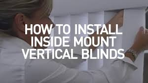 how to install inside mount vertical blinds youtube