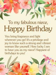 to my fabulous niece happy birthday wishes card birthday