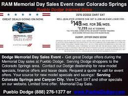 dodge ram memorial day sale dodge memorial day sales event near colorado springs pueblo dodge