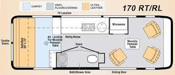 class b rv floor plans class b motorhome floor plan class b motorhomes floor plans rv