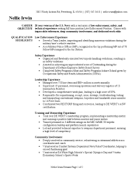 Police Officer Resume Sample Objective Military Resume Help Resume Samples And Resume Help