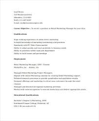Marketing Resume Marketing Resume Examples 47 Free Word Pdf Documents Download