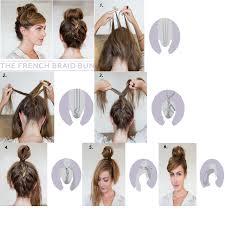 diy simple hairstyles 238728 diy french braid bun hairstyle best