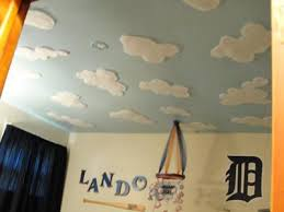 Painting Clouds On Ceiling Pueblosinfronterasus - Baby boy bedroom paint ideas