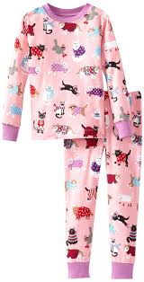 hatley pajama set sweater cats pink 3t