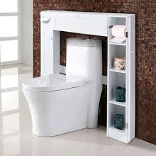 costway rakuten costway wooden over the toilet storage cabinet