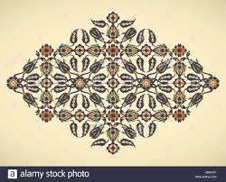 arabesque vintage border elegant floral decoration print for