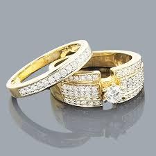 women s engagement rings 14k gold womens diamond engagement ring set 1 10ct
