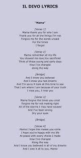 il divo mama lyrics music pinterest