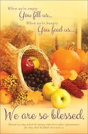 Blessed Thanksgiving Standard Thanksgiving Bulletin We Are So Blessed