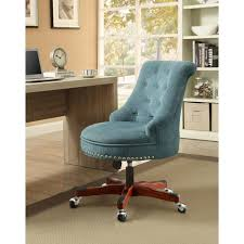 Upholstered Swivel Desk Chair Linon Home Decor Sinclair Gray Polyester Office Chair