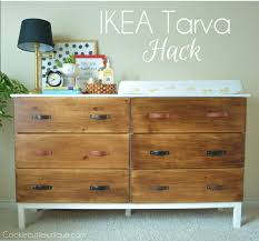 Ikea Changing Table Hack Ikea Tarva Dresser Hack Hometalk