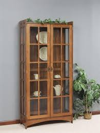 Kitchen Curio Cabinet Fancy Mission Curio Cabinet From Dutchcrafters Amish Furniture
