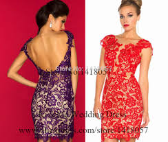 aliexpress com buy 2015 lace purple red cocktail party