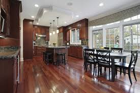 coordinating wood floor with wood cabinets 43 kitchens with extensive dark wood throughout