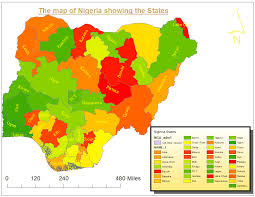 Map Of Nigerian States by The Big Dream