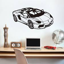 Sports Decals For Kids Rooms by Online Get Cheap Kids Wall Stickers Sports Cars Aliexpress Com