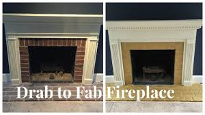 drab to fab fireplace youtube