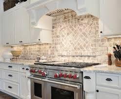 Brick Backsplash In Kitchen Brick Backsplash Positive Space Inc - Kitchen with brick backsplash