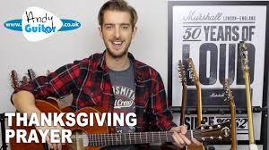 johnny thanksgiving prayer guitar lesson tutorial