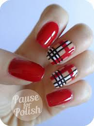 pause for polish claire u0027s accessories ruby plaid nail art