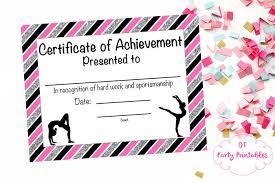 borderless certificate templates gymnastics award gymnastics certificate printable