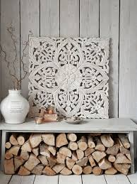 these beautiful rectangular grey carved wooden wall panels will