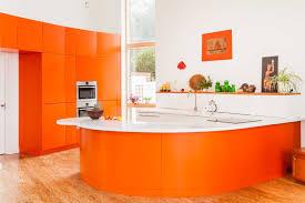 design brown laminate wood floor modern modular bar island orange
