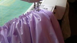 Pleated Table Covers How To Gather A Plastic Tablecloth Into A Table Skirt Youtube