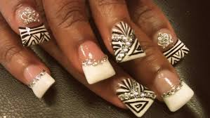 how to french manicure duck nail designs youtube