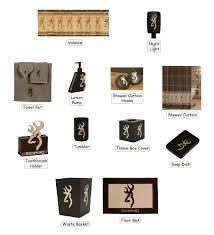 amazon com browning buckmark 25 piece bathroom decor accessories