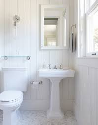 Tongue And Groove In Bathrooms Bathroom White Bathroom With Bathroom Mirror And Toilet Paper