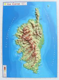 Relief Map Relief Map Of Corsica As 3d Map