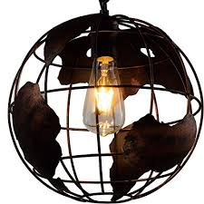 Chandelier Creative Battaa Industrial Globe Pendant Light Vintage Style Simple Wrought