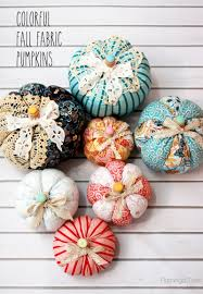 halloween fabric crafts easy fall fabric pumpkins fall halloween decor pinterest