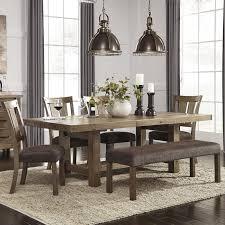 bench kitchen table defaultname loon peak etolin 6 piece dining