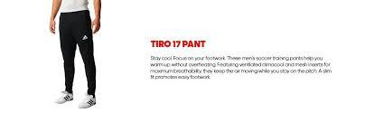 Faucet Washer Size Chart Amazon Com Adidas Men U0027s Soccer Tiro 17 Pants Adidas Sports