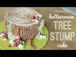 relaxing cake decorating all buttercream tree stump cake piping
