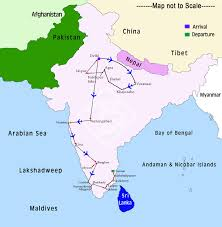 India On World Map North To South India Tour Tours In North And South India Trip To