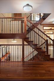 Recessed Handrail Stair Railing Ideas Staircase Contemporary With Entry Pendant Lights