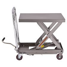scissor lift table harbor freight colibrox rolling table cart 500lb capacity hydraulic cart w foot