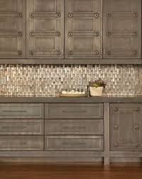Kitchen Tile Work Backsplash Center Piece With Metal Accent - Metal kitchen backsplash