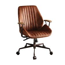 Leather Office Chair Acme Furniture Hamilton Cocoa Leather Top Grain Leather Office Chair