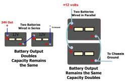 how to connect two 12 volt batteries and still have 12 volts