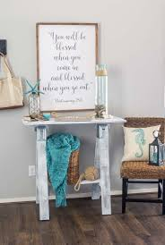 Turquoise Entry Table by Coastal Summer Entryway Domestically Speaking